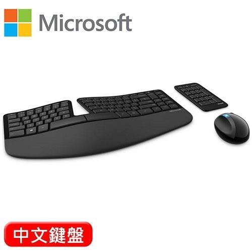Microsoft 微軟 Sculpt人體工學無線鍵盤滑鼠組 中文