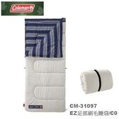 【速捷戶外】美國Coleman CM-31097 EZ足部刷毛睡袋/C0 可連接雙拼/適溫0度 ,可機洗 化纖睡袋