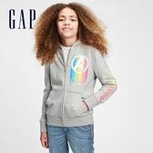 Gap男童 Gap x Marvel 漫威系列印花運動連帽外套 671398-灰色