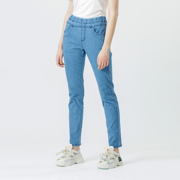 【中大尺碼】MIT口袋打棗冰涼牛仔長褲