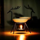鐵藝小鹿蠟燭香薰燈家用香薰爐精油爐spa會所精油燈爐