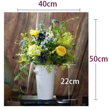 模擬花假花 套裝 花藝 客廳餐桌 裝飾花 花瓶 -bri010027