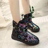 中筒雪靴-時尚休閒個性保暖女厚底靴子2色73kg56[巴黎精品]