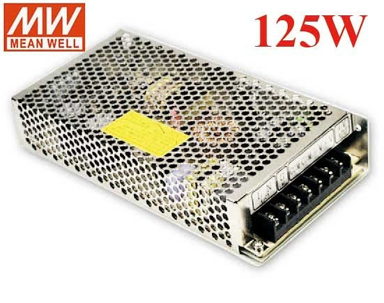 明緯MW 5V/10A 24V/5A 125W RD-125B 機殼型(Enclosed Type)交換式電源供應器