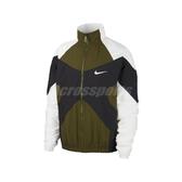Nike 外套 NSW Woven Jacket 綠 白 男款 風衣外套 立領 穿搭推薦 【PUMP306】 BV5211-331