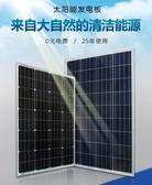 全新12V太陽能電池板100W多單晶太陽能充發電板光伏發電家用 YXS 莫妮卡