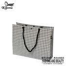 手提袋-編織方袋(L)-灰白千鳥-01C