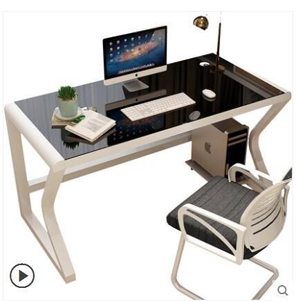 電腦桌 電腦台式桌家用簡約現代電腦桌子經濟型書桌簡易寫字台雙人電腦桌 8號店WJ