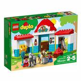 樂高積木 LEGO《 LT10868 》2018 年 Duplo 幼兒系列 - 農場小馬馬棚 ╭★ JOYBUS玩具百貨