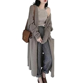 針織開衫 歐美秋冬新款羊絨大衣女中長款寬鬆毛衣外套針織開衫加厚外搭