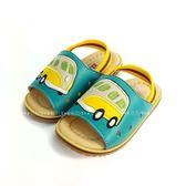可愛汽車 後綁帶學步拖鞋《7+1童鞋》C044綠色