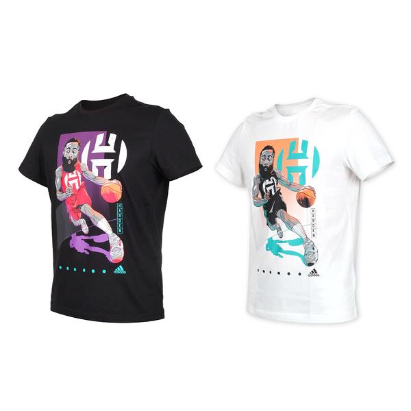 ADIDAS 男 HARDEN 短袖T恤(純棉 運動上衣 慢跑 路跑 愛迪達 休閒≡體院≡ FM4778_1