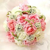 送胸花腕花 新娘手捧花仿真玫瑰攝影婚禮韓式創意影樓結婚滿天星   泡芙女孩輕時尚