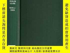 二手書博民逛書店Human罕見Problem SolvingY364153 Allen Newell Prentice Hal