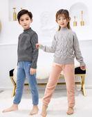 兒童暖暖褲加絨女童打底褲男童裝冬季保暖睡褲加厚寶寶外穿童褲子  提拉米蘇