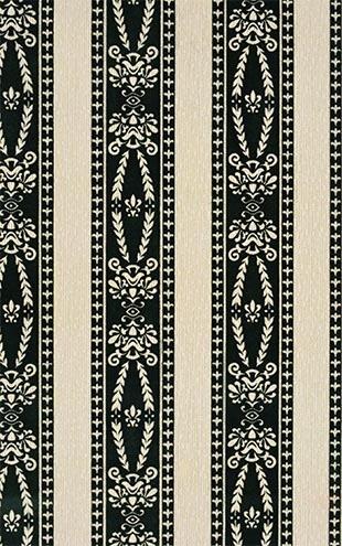 黑白條紋復古壁紙 比利時進口壁紙 WD-344