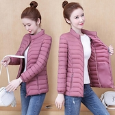 棉服 棉衣女士短款2021年新款冬季輕薄羽絨棉服時尚媽媽小棉襖外套 韓國時尚週
