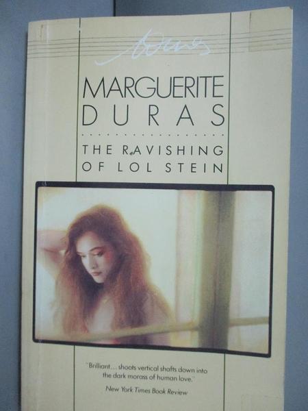 【書寶二手書T8/原文小說_OMY】The Ravishing of Lol Stein_Duras, Margueri