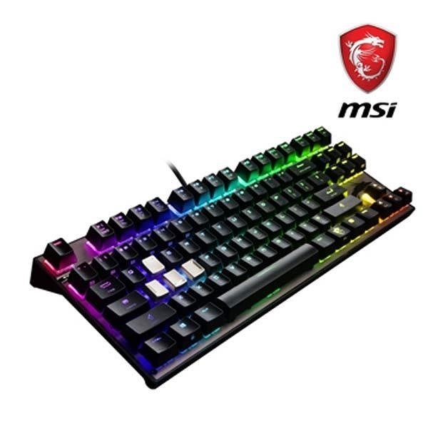 【南紡購物中心】限量促銷 MSI微星Vigor GK70 Cherry MX RGB機械電競鍵盤 (紅軸版)