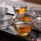 熱賣玻璃杯 純手工玻璃杯茶杯杯子小號描金錘紋水杯酒杯日式透明主人功夫單杯 coco