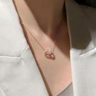 項鏈2021年新款女夏鈦鋼鎖骨鏈輕奢小眾設計感簡約INS冷淡風配飾