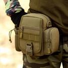 軍規腰包 戶外戰術腰包男多功能路亞包釣魚迷彩工具包包小挎包男士彈弓包軍  快速出貨