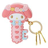 Sanrio 美樂蒂可夾式造型鑰匙圈(玫瑰愛心)★funbox★_147231