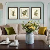 客廳沙發背景墻三聯裝飾畫美式現代餐廳臥室壁畫實木有框掛畫碩果 聖誕交換禮物