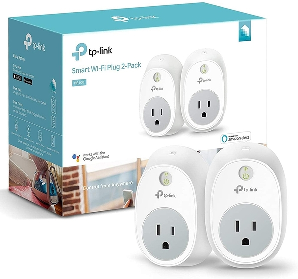 [9美國直購] 節能插座 Kasa Smart Plug by TP-Link HS100 KIT Smart Home Wi-Fi Outlet Works with Alexa, Echo 2-Pack