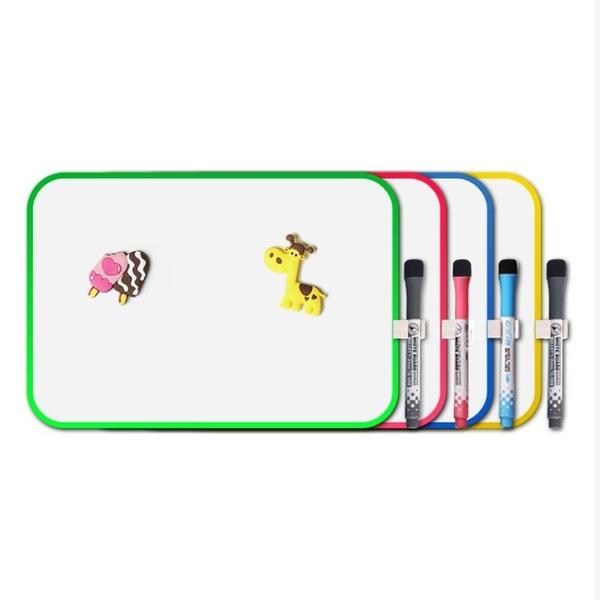 兒童畫畫板磁性雙面寫字板寶寶玩具繪畫涂鴉可擦小白板掛墻支架式wy 快速出貨