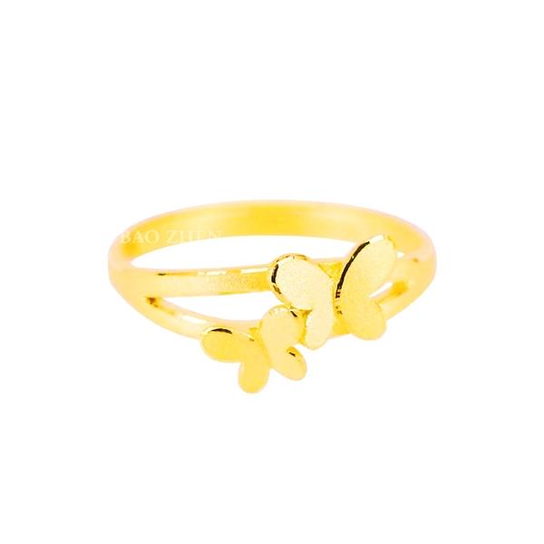 翩翩起舞-蝴蝶黃金戒指