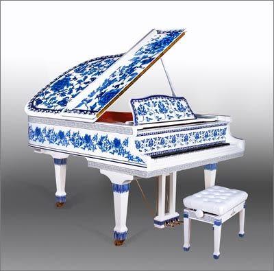 【HLIN漢麟樂器】SPRATE平台演奏鋼琴-SP-148-青花瓷緩降-148cm
