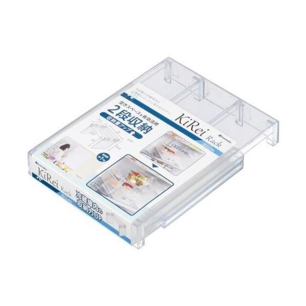 小禮堂 Inomata 日本製 ㄇ型冰箱架高收納架 S (透明款) 4905596-03878