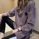 長袖t恤女秋裝2020年新款韓版中長款寬鬆百搭圓領上衣體恤 【快速出貨】