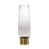 艾莉雅金環玻璃花器 灰 32.5cm