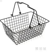 超市購物籃 金屬購物籃化妝品店購物籃家用手提籃 彈簧手柄購物籃zzy1365『雅居屋』TW
