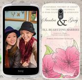 ♥ 俏魔女美人館 ♥ {粉色大花*水晶硬殼} HTC Desire 526G+手機殼 手機套 保護套