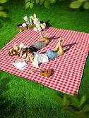 野餐墊防潮墊戶外郊游墊子地墊加厚便攜草坪ins風野炊防水野餐布 琉璃美衣