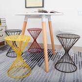 鐵藝餐桌凳北歐小椅子家用登高歐式現代簡約