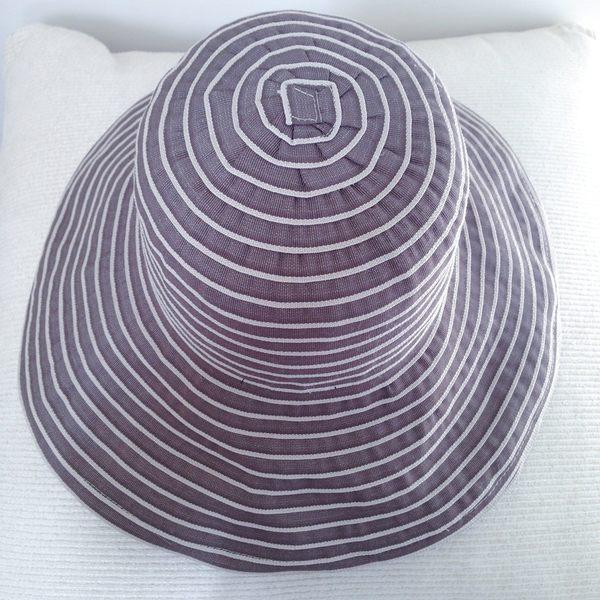 防曬UP!!小顏效果UP! 台灣製 雙色漩渦 紙紗編織 寬緣淑女帽(共兩色)