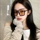 眼鏡框 復古茶色墨鏡女個性下半框眼鏡網紅街拍ins大框圓臉顯瘦太陽鏡潮 寶貝寶貝計畫 上新