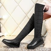 膝上靴 過膝長靴拉鏈棉鞋保暖加厚防水防滑厚底羽絨雪地靴女高筒靴女大碼 米希美衣