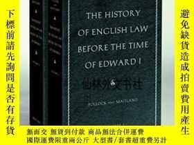 二手書博民逛書店【罕見】The History Of English Law Before The Time Of Edward