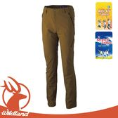 【Wildland 荒野 男 四面彈性抗UV長褲《黃卡其》】OA31392/休閒長褲/休閒機能褲/運動褲