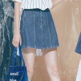 中藍A字牛仔短裙【1919800308】