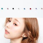 耳夾 精巧亮眼水鑽透明夾式耳環 無耳洞女孩【NDK27】韓國帶回