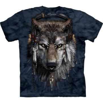 【摩達客】 (預購) 美國進口【The Mountain】自然純棉系列 DJ狼 設計T恤(10411045101a)
