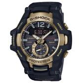 【CASIO】 G-SHOCK 駕駛艙太陽能藍芽飛行錶-黑X金(GR-B100GB-1A)