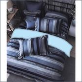 【免運】精梳棉 雙人舖棉床包(含舖棉枕套) 台灣精製 ~品味時尚/藍~