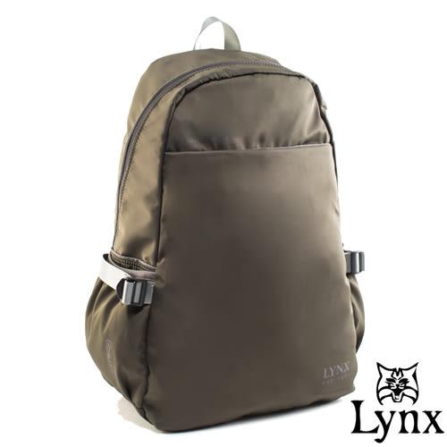 Lynx - 山貓城市輕遊款大容量極簡造型後背包-墨綠